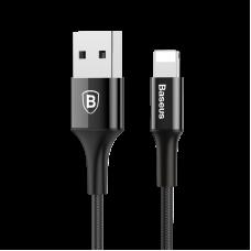 Кабель Lightning Baseus 100 см 2A Shining Cable With Jet Metal Черного цвета