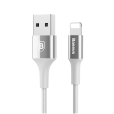 Кабель Lightning Baseus 100 см 2A Shining Cable With Jet Metal Серебристого цвета