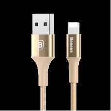 Кабель Lightning Baseus 100 см 2A Shining Cable With Jet Metal Золотого цвета