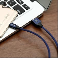 Кабель Lightning Baseus нейлоновый 120 см 2A Yiven Cable Темного-Синего цвета