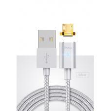 Магнитный кабель Lightning HOCO 120 см U16 2.4А Серебристого цвета