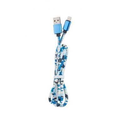 Кабель USB Army Pttern Cable для iPhone 1м Синего цвета