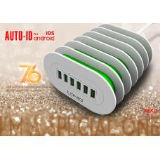 Сетевое зарядное устройство LDNIO на 6 USB 7A A6702