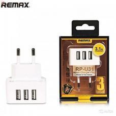 Сетевое зарядное устройство Remax 3.1A на 3 USB RP-U31