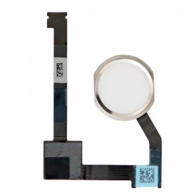 Шлейф кнопки Home с толкателем для iPad Air 2 Белая