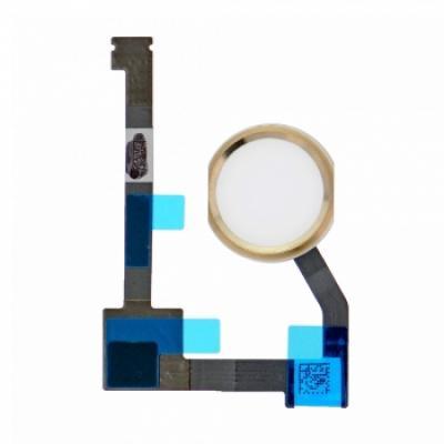 Шлейф кнопки Home с толкателем для iPad Air 2 Золотая
