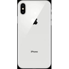 Задняя крышка для iPhone 10 Серебряная (Silver) оригинал