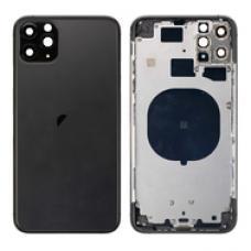Корпус цельный с рамкой для iPhone 11 Pro Max Черного цвета