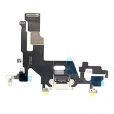 Системный шлейф порта зарядки для iPhone 11 Белого цвета