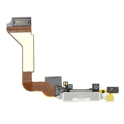 Шлейф порта зарядки/синхронизации iPhone 4 оригинал (белый)
