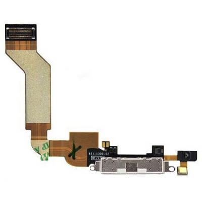 Шлейф порта зарядки iPhone 4S оригинал (белый)