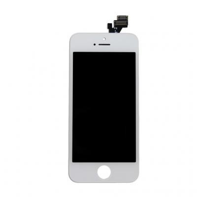 Дисплей для iPhone 5 в сборе со стеклом белый AAA+ \ Hybrid SCA