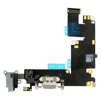 Нижний шлейф для iPhone 6 Plus Space Gray чёрный