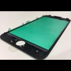 Стекло с рамкой для переклейки iPhone 6S Plus Черное