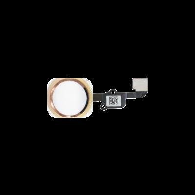 Кнопка Home в сборе со шлейфом для iPhone 6S Plusрозовая (pink gold)