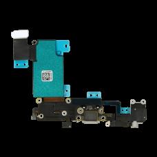 Нижний шлейф порта зарядки с микрофоном и аудио выходом для iPhone 6S Plus, Черный (Black)