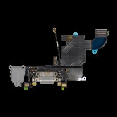 Нижний шлейф порта зарядки и аудио разъёма для iPhone 6S чёрный оригинал