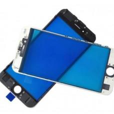 Стекло с рамкой для переклейки iPhone 7 Plus Белое