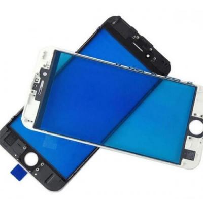 Стекло с рамкой для переклейки iPhone 7 Белое