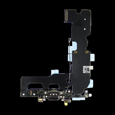 Нижний шлейф порта зарядки iPhone 7 Plus Черный (Black), Оригинал