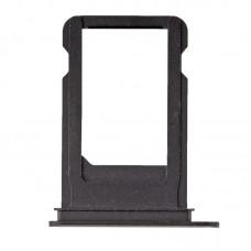 Сим-лоток с уплотнителем для iPhone 7 Черный матовый (Black)