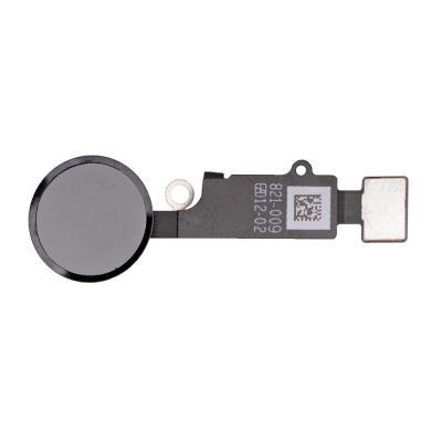 Кнопка Hоme с шлейфом для iPhone 7 цвет Черный матовый (Back)