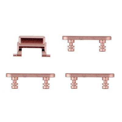 Набор кнопок громкости, включения и вибро для Айфон 7 Розовое золото