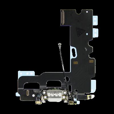 Нижний шлейф порта зарядки iPhone 7 Белый (White), Оригинал