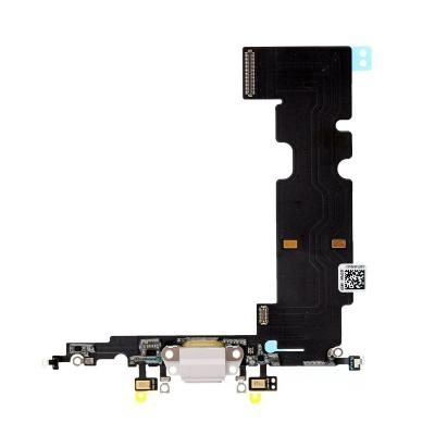 Нижний шлейф разъёма зарядки для Apple iPhone 8 Plus Оригинал Белый