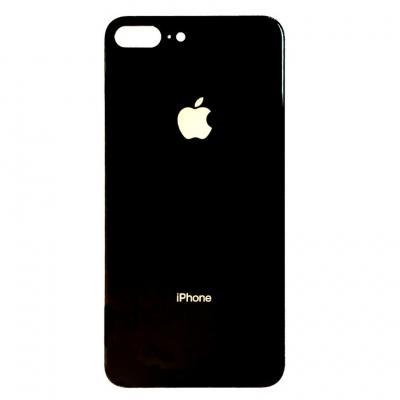 Заднее стекло корпуса для Айфон 8 Plus Черное