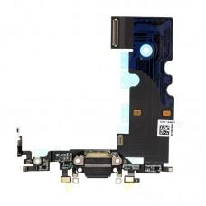 Системный нижний шлейф порта зарядки Apple iPhone 8, Черный оригинал