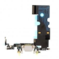 Системный нижний шлейф порта зарядки Apple iPhone 8, Белый оригинал