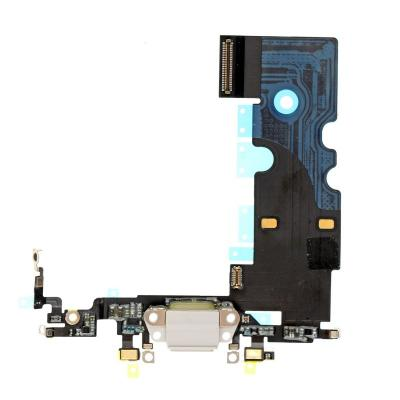 Нижний шлейф с портом зарядки iPhone 8, Белый Оригинал