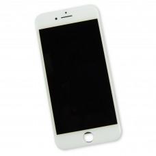 Модуль (дисплей, стекло и рамка) iPhone 8 Белый Hybrid SCA