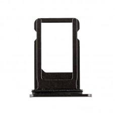 Сим-лоток с уплотнителем для iPhone 8 Plus Черный (Black)