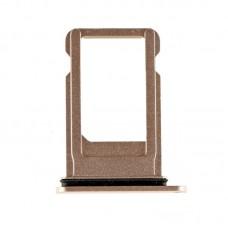 Сим-лоток с уплотнителем для iPhone 8 Золотой (Gold)