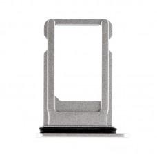 Сим-лоток с уплотнителем для iPhone 8 Plus Белый (Silver)