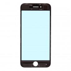 Стекло с рамкой для переклейки iPhone SE 2 Черного цвета