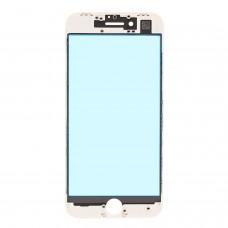 Стекло с рамкой для переклейки iPhone 8 Plus Белого цвета