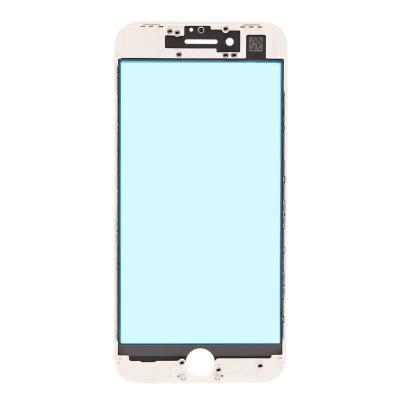 Стекло с рамкой для переклейки iPhone SE 2 Белое