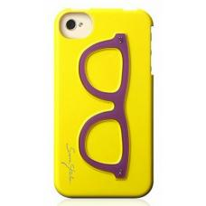 Чехол для iPhone 4/4S Очки (желтый)