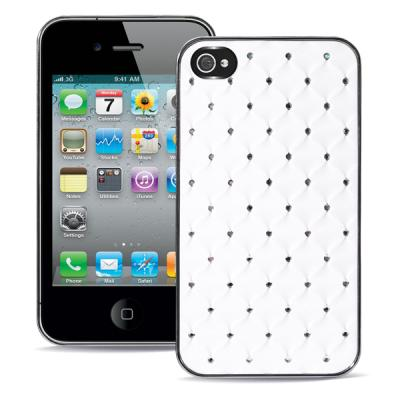 Чехол для iPhone 4/4s Diamond Cover Белый