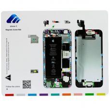 Магнитный коврик для ремонта со схемой сборки iPhone 6