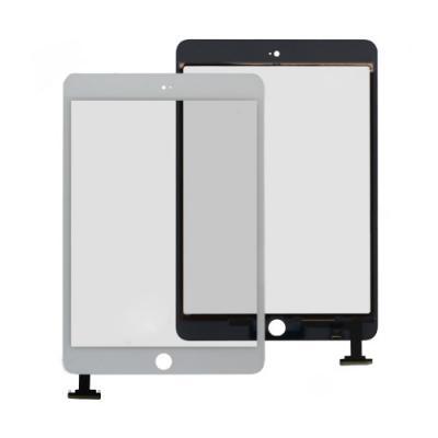 Стекло тачскрин для iPad Mini/Mini 2 + кнопка HOME, белое, Retina