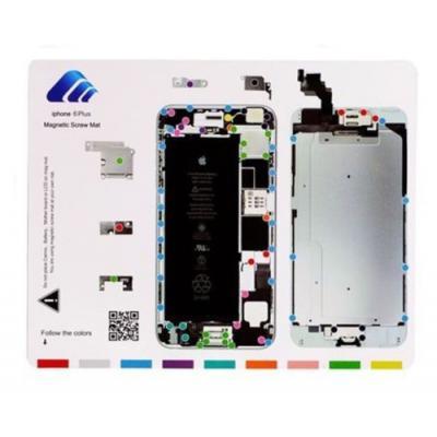 Магнитный коврик для ремонта со схемой сборки iPhone 6 Plus
